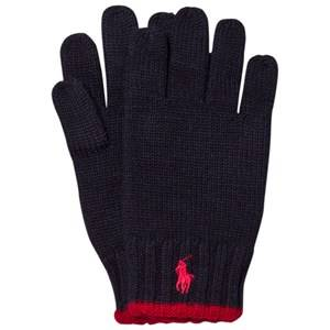 Ralph Lauren Boys Gloves and mittens Navy Navy/Red Merino Gloves