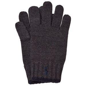 Ralph Lauren Boys Gloves and mittens Grey Grey/Black Merino Gloves