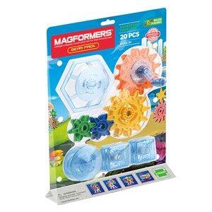 Magformers Unisex Construction Blue Gear Pack 20 Piece Set