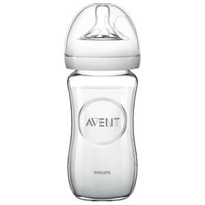 Philips Avent Unisex Baby feeding Beige Natural Glass Feeding Bottle 240 ml (8 oz) 0M+