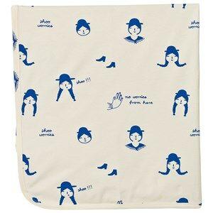 Tinycottons Unisex Textile Beige No-Worry Dolls Blanket Beige/Blue