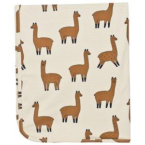 Image of Tinycottons Unisex Textile Beige Llamas Blanket Beige/Nude