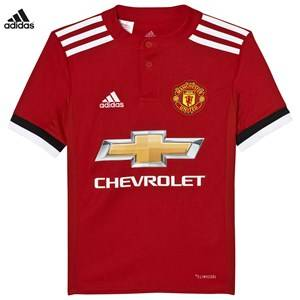 Image of United Manchester United Boys Sporting replica Red Man United ´17 Junior Home Shirt