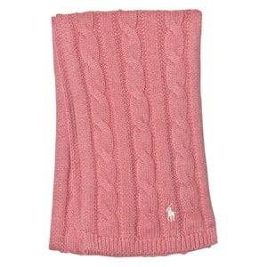 Ralph Lauren Girls Scarves Pink Pink Cable Knit Scarf