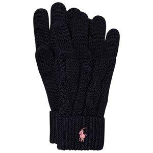 Ralph Lauren Girls Gloves and mittens Navy Navy Knit Gloves