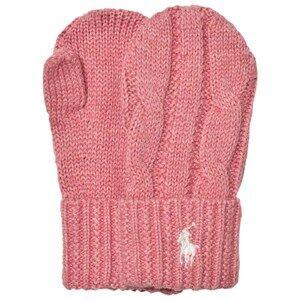 Ralph Lauren Girls Gloves and mittens Pink Pink Knit Mittens