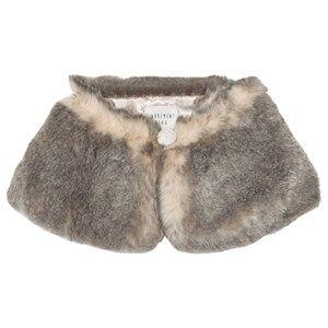 Carrément Beau Girls Scarves Grey Grey Faux Fur Collar