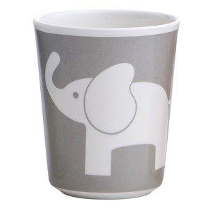 Elephant Unisex Tableware Grey Melamine Glass Elefant Dark Grey