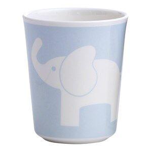 Elephant Boys Tableware Blue Melamine Glass Elephant Light Blue
