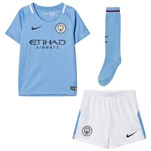 Manchester City FC Unisex Sporting replica Blue Manchester City FC Kids Home Soccer Uniform