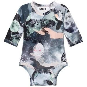 Molo Girls Onesies Pink Fonda Baby Body Star Gazer