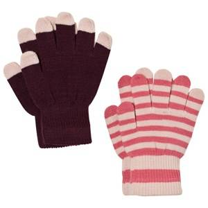 Image of Molo Unisex Gloves and mittens Red Kei Gloves Set Forestberry