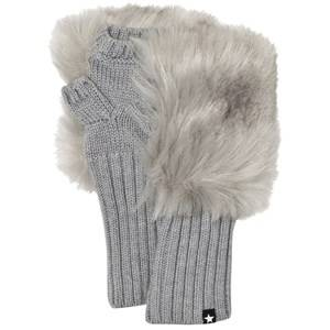 Image of Molo Unisex Gloves and mittens Grey Kia Mittens Grey melange