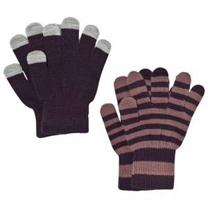 Image of Molo Unisex Gloves and mittens Purple Kei Gloves Set Nightshade