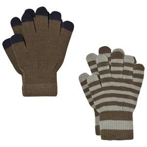 Image of Molo Unisex Gloves and mittens Black Keio Gloves Set Tarmac
