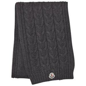 Moncler Unisex Scarves Grey Grey Knit Scarf