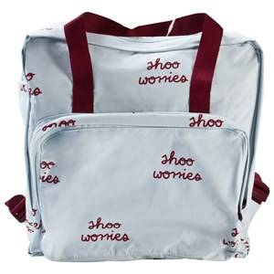 Tinycottons Unisex Bags Blue Shoo Worries Backpack Light Blue/Bordeaux