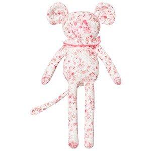 Petit Bateau Unisex Soft toys White Floral Print Mouse