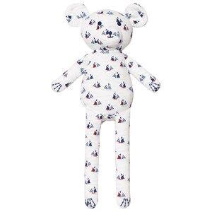 Petit Bateau Unisex Soft toys White Sailboat Print Teddy Bear