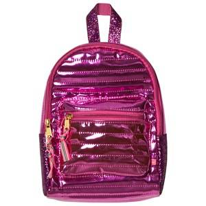 Le Big Girls Bags Pink Mini Metallic Backpack Pink