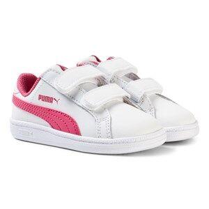 Puma Girls Sport footwear White Puma Smash Fun Kids Trainers White
