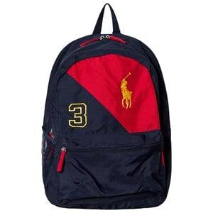 Ralph Lauren Girls Bags Navy Navy/Red Banner Logo Backpack