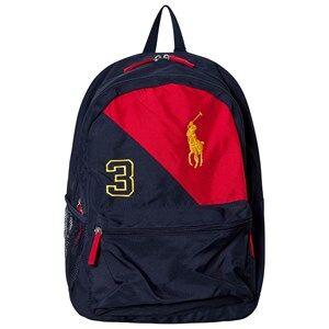 Ralph Lauren Girls Bags Navy Navy/Red Banner Logo Backpack