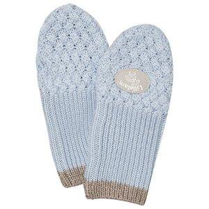 Lillelam Unisex Gloves and mittens Blue Merino Wool Mittens Basic Blue