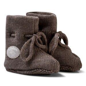 Lillelam Unisex Slippers Brown Merino Wool Baby Slippers Basic Brown