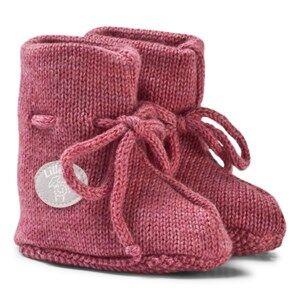 Lillelam Unisex Slippers Pink Merino Wool Baby Slippers Basic Pink