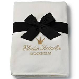 Image of Elodie Details Unisex Textile White Pearl Velvet Blanket Vanilla White