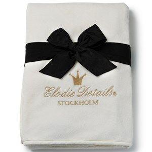 Elodie Details Unisex Textile White Pearl Velvet Blanket Vanilla White