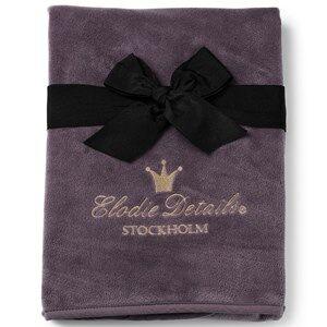 Elodie Details Unisex Textile Purple Pearl Velvet Blanket Plum Love
