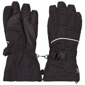 Image of Isbjörn Of Sweden Unisex Gloves and mittens Black Ski Gloves Black