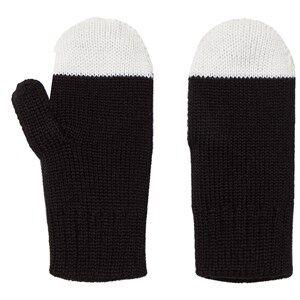 Image of Papu Unisex Gloves and mittens Black Kivi Mittens Black/White