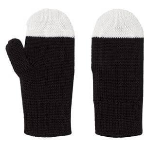 Papu Unisex Gloves and mittens Black Kivi Mittens Black/White