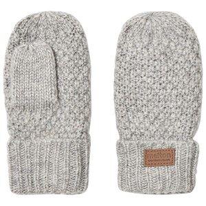Melton Unisex Gloves and mittens Grey Lamb Wool Sailor Mittens Light Grey