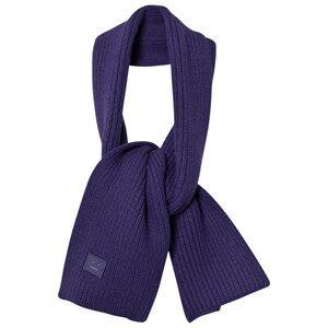 Acne Studios Unisex Scarves Blue Wool Mini Bansy Scarf Royal Blue