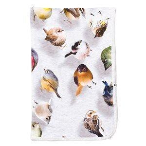 Molo Unisex Textile Blue Neala Blanket Bouncing Birds