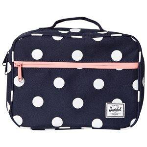 Herschel Unisex Bags Red Pop Quiz Lunch Box Peacoat Polka Dot