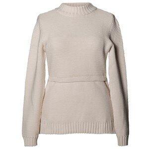 Boob Girls Maternity jumpers & cardigans White Ellen Rib Sweater Off White