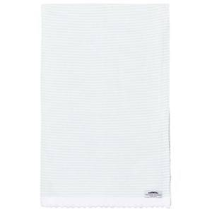 The Wool Company Unisex Textile Green Mint Stripe Blanket
