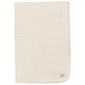 Image of The Wool Company Unisex Textile White Lambswool Waffle Blanket