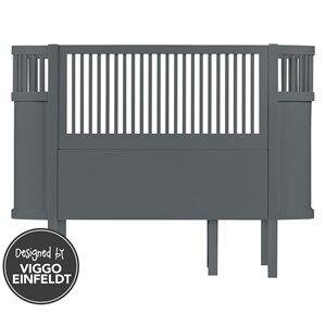 sebra Unisex Furniture Grey Bed Baby & Junior Dark Grey
