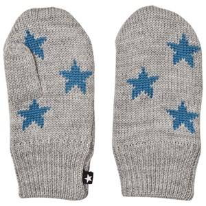 Image of Molo Unisex Gloves and mittens Grey Snowfall Mittens Grey melange