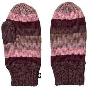 Image of Molo Unisex Gloves and mittens Blue Snowfall Mittens Huckleberry Stripe