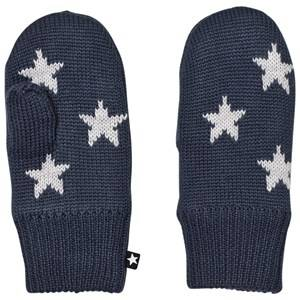 Image of Molo Unisex Gloves and mittens Navy Snowfall Mittens Midnight Navy
