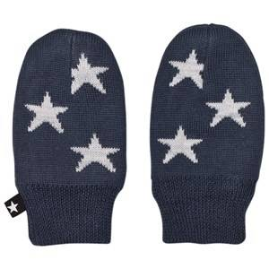 Image of Molo Unisex Gloves and mittens Navy Snowflake Mittens Midnight Navy