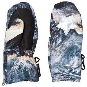 Molo Unisex Gloves and mittens Blue Igor Mittens Mountain Range