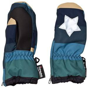 Image of Molo Unisex Gloves and mittens Blue Igor Mittens Ocean stripe